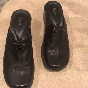 "Bass 2""  leather slides"
